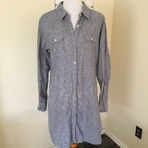 Patagonia Button Up Shirt Dress Grey Collared